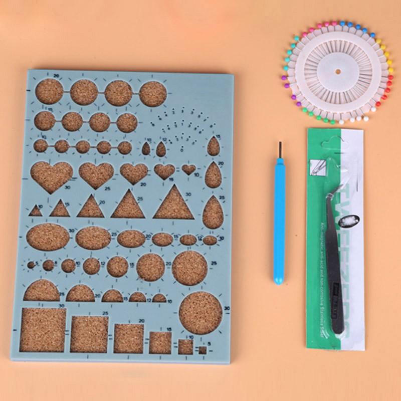 ♥superH♥Durable 1 Set DIY Tool Starter Paper Quilling Rolling Kit Mould Needles Tweezer