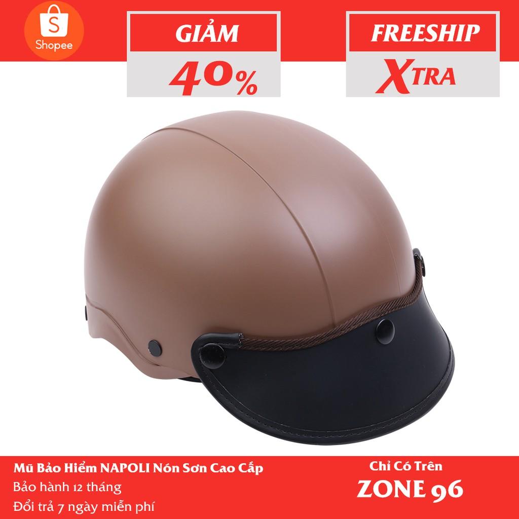 [CHÍNH HÃNG] Mũ Bảo Hiểm 1/2 Đầu NAPOLI Nón Sơn Màu Xanh Dương - Free Size ( 54 - 58cm)  -Bảo Hành 12 Tháng