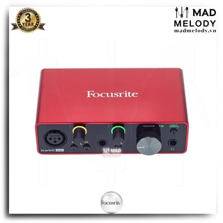 Focusrite Scarlett Solo USB Audio Interface (3rd Gen) [soundcard thu kiểm âm Solo Gen 3, Brand New] thumbnail