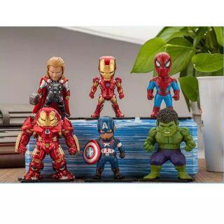 Bộ 6 nhân vật siêu anh hùng Avengers