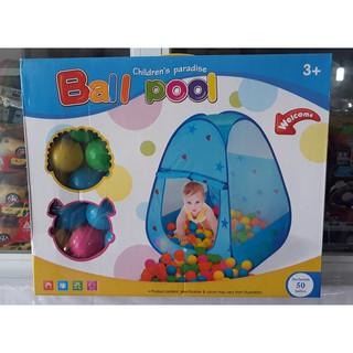 Lều bóng nhà bóng cho bé + tặng kèm 50 bóng đa sắc màu