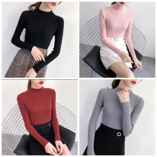 Bán sỉ áo len cổ 3 phân nữ hàng quảng châu đẹp ( hình thật shop  | SaleOff247