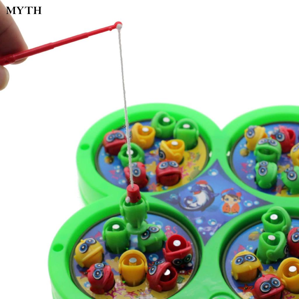 Interesting Electric Rotating Magnet Fishing For Kids Educational Toy Game Chic