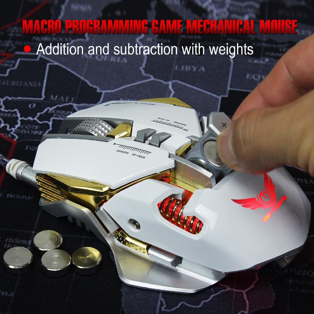 Chuột Gaming Zerodate 3050 Chips 3200 Dpi 7 Nút