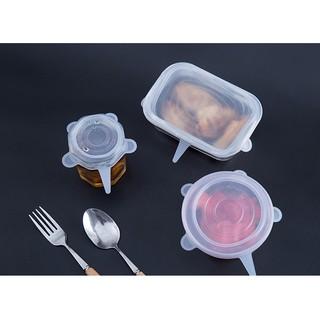 Yêu Thích(Set 6 miếng) màng bọc thực phẩm silicon co giãn, nắp đậy thực phẩm (1 cái)