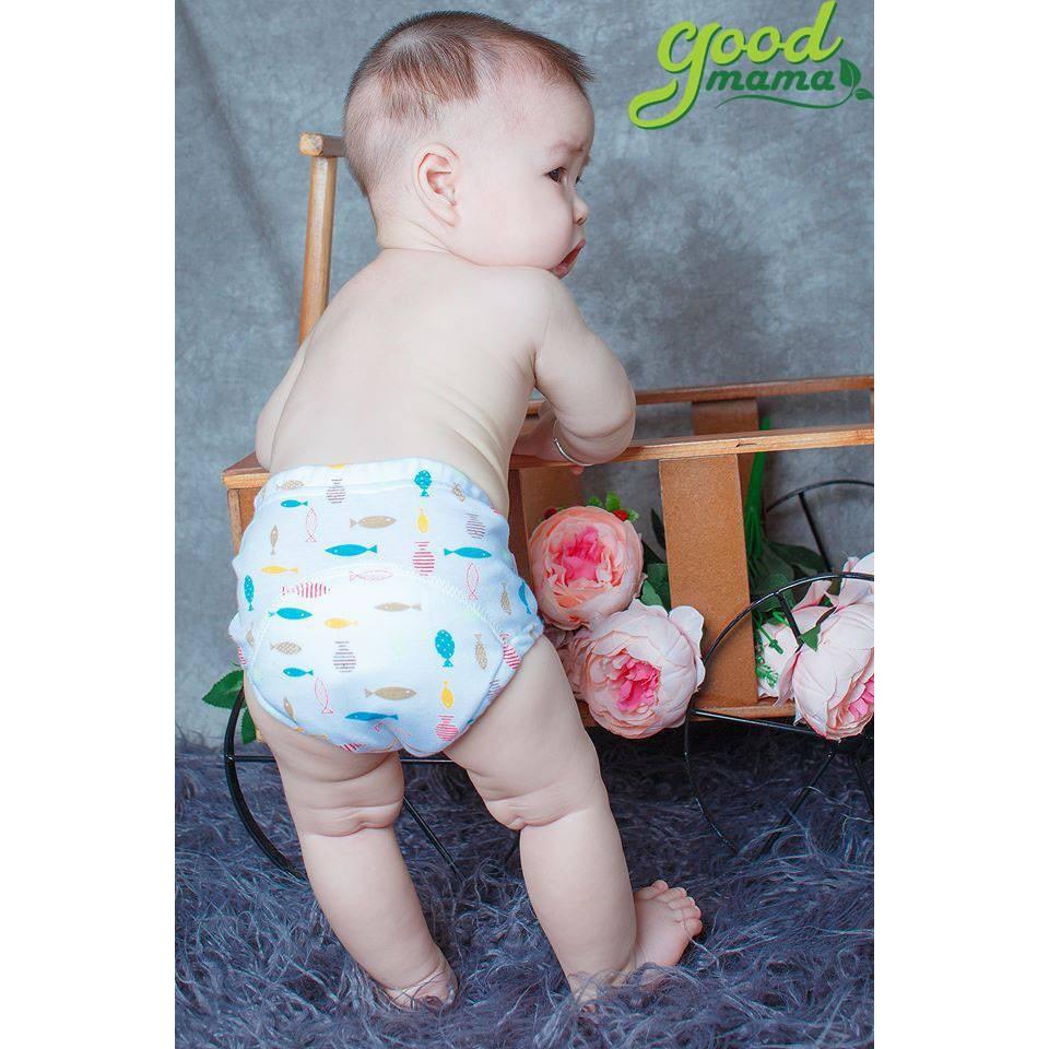 Quần tập bỏ tã 6 lớp Goodmama cao cấp cho bé - Đủ size từ 6-15kg - Giao màu ngẫu nhiên