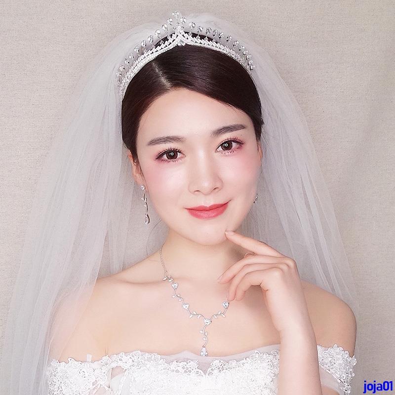 Bộ trang sức gồm vòng đeo cổ đôi bông tai và vương miện đội đầu đính kim cương lấp lánh cho cô dâu - 21668180 , 2294724988 , 322_2294724988 , 987500 , Bo-trang-suc-gom-vong-deo-co-doi-bong-tai-va-vuong-mien-doi-dau-dinh-kim-cuong-lap-lanh-cho-co-dau-322_2294724988 , shopee.vn , Bộ trang sức gồm vòng đeo cổ đôi bông tai và vương miện đội đầu đính kim