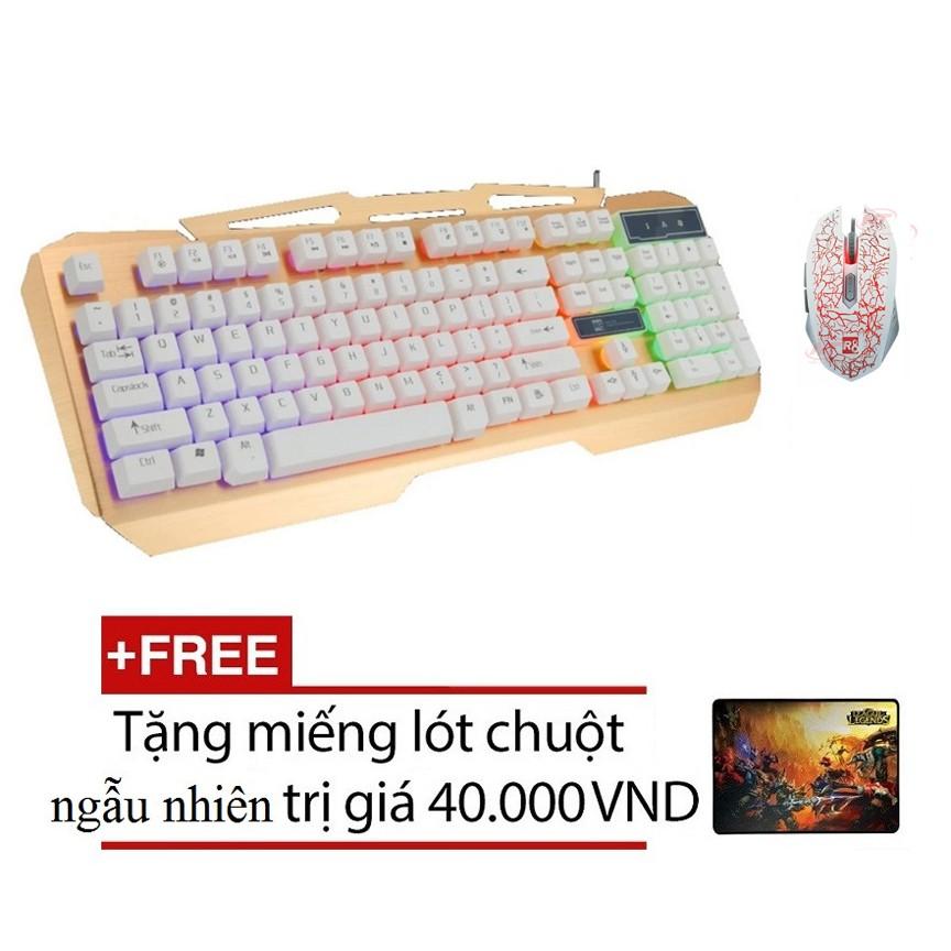 Bộ bàn phím giả cơ và chuột chuyên game R8 1828 - 1603 (Trắng) + Tặng kèm lót chuột - 2495677 , 212267461 , 322_212267461 , 373000 , Bo-ban-phim-gia-co-va-chuot-chuyen-game-R8-1828-1603-Trang-Tang-kem-lot-chuot-322_212267461 , shopee.vn , Bộ bàn phím giả cơ và chuột chuyên game R8 1828 - 1603 (Trắng) + Tặng kèm lót chuột