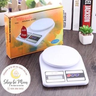 Cân tiểu ly điện tử nhà bếp mini cân định lượng thực phẩm từ 1 gam - 5kg, 10kg (Tặng kèm 2 pin), làm bánh, cân gia vị