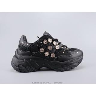 MLB BIG BALL CHUNKY nguyên bản Một đôi giày thể thao đế mềm MLB thông thường của Hàn Quốc Giày bóng chày thể thao màu đen Kích thước: 35-39