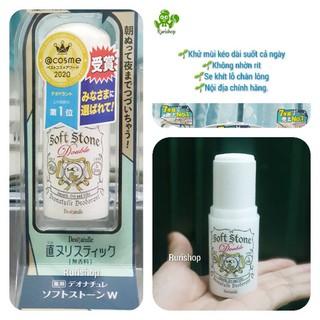 ( Mẫu mới 2021)Lăn nách khử mùi đá khoáng Soft Stone Nhật Bản
