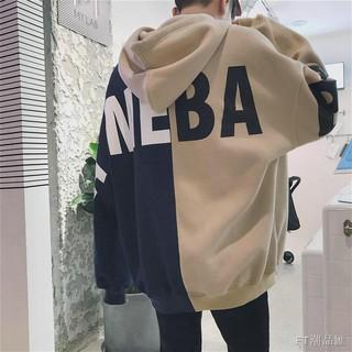 Áo Sweater Phối Nhung Dày Dáng Rộng Thời Trang 2019 Cho Các Cặp Đôi