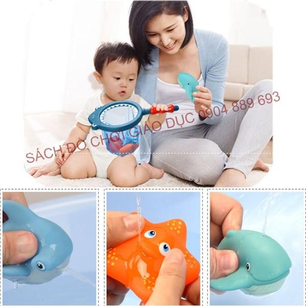 Đồ chơi phun nước khi tắm có cảnh báo nhiệt độ tắm - nhựa cao cấp an toàn