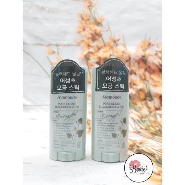 ( Sẵn - Mẫu mới ) Thanh Lăn Trị Mụn Đầu Đen Mamonde Pore Clean Blackhead Stick 18g