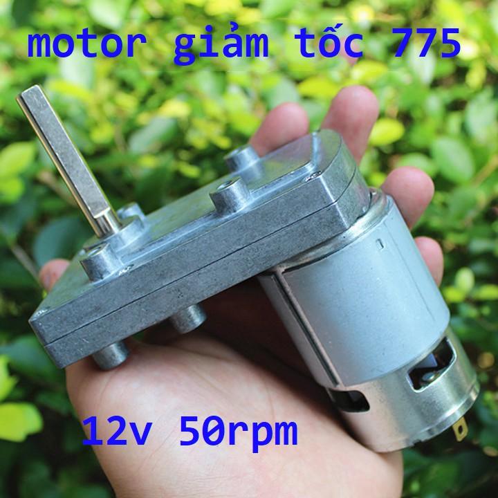 motor giảm tốc 12v 775 50rpm