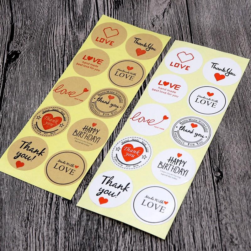 Sticker Hình Dễ Thương Dán Thiệp Hộp Quà Tặng Sinh Nhật, Miếng Niêm Phong Đóng Gói Hộp S01 Dorami