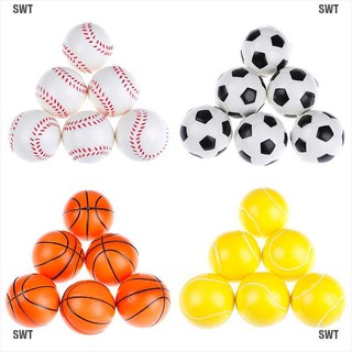 SWT❥6Pcs 6.3Cm Childrens Vent Balls Soccer Stress Balls For Stress Relief Ball Games