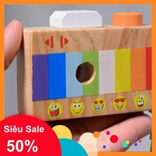 [Siêu Sale] Máy ảnh kính vạn hoa đồ chơi gỗ