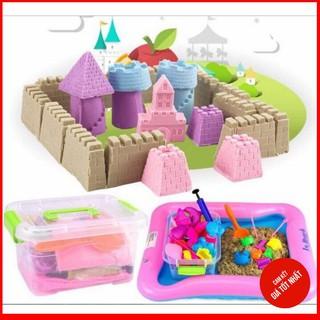 SIÊU TIẾT KIỆM] Bộ đồ chơi tạo hình cát động lực cho bé