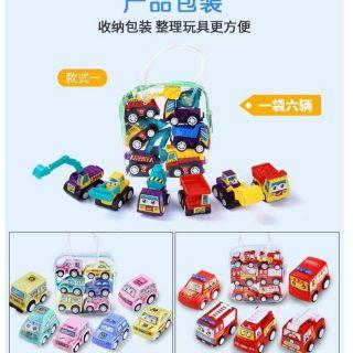 Set 6 túi ô tô đồ chơi