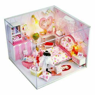Mô hình nhà gỗ búp bê dollhouse DIY – TW2 Dream of honey