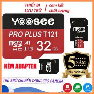 Thẻ nhớ yoosee 32GB /64GB Class 10 chuyên dụng Camera wifi, Smartphone, Loa đài,máy nghe nhạc -Thẻ nhớ camera   BH 5 năm