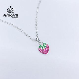 Dây Chuyền Bạc Hình Dâu Tây Cho Bé Gái - Minh Canh Jewelry