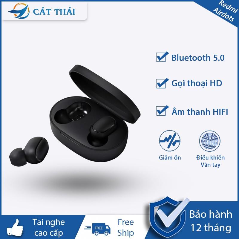 Tai nghe không dây cao cấp Redmi AirDots có nút đa chức năng bluetooth 5.0 gọi thoại rõ ràng âm thanh sóng động