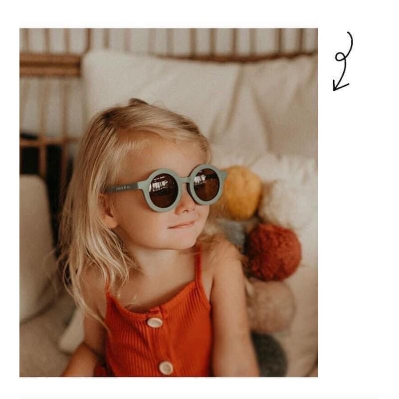 Mắt Kính Tròn Chống Tia UV Cho Bé 1-5 Tuổi