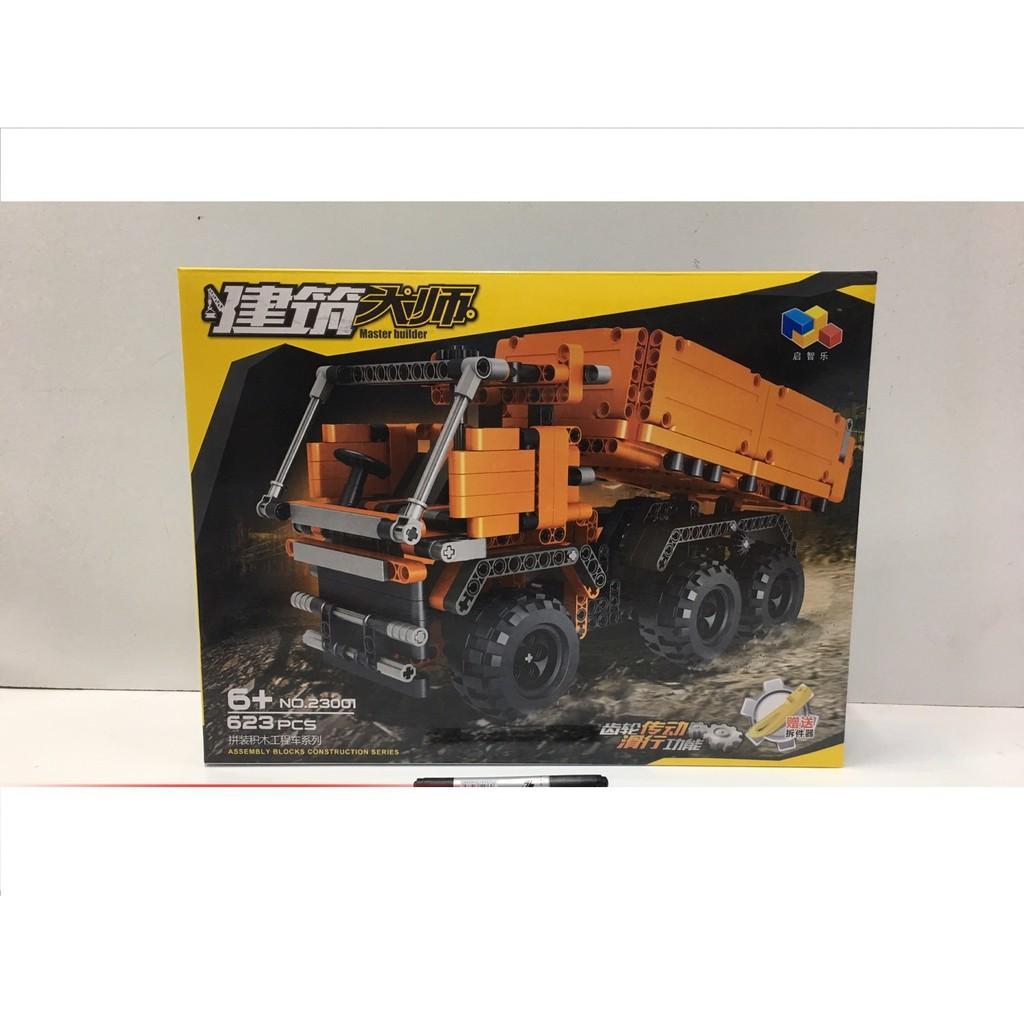 Lắp ráp Master Builder 23001 - Xe tải xây dựng chở gạch 623 mảnh