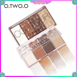 O.TWO.O Waterproof Grooming Pressed Blush Powder Palette Multi-function