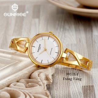 Đồng hồ nữ siêu mỏng Sunrise 9953SA kính Sapphire chống xước chống nước tốt - Fullbo