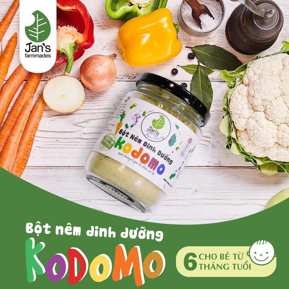 [Date 2022] Hạt nêm dinh dưỡng cho bé ăn dặm Kodomo Jan's 90g (dành cho bé từ 6m)