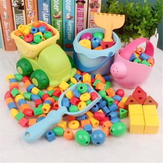 ♥WARM♥ Preschool Lacing Beads Kids Beads with 4 Strings Toddler Montessori Toys for Toddlers Therapy