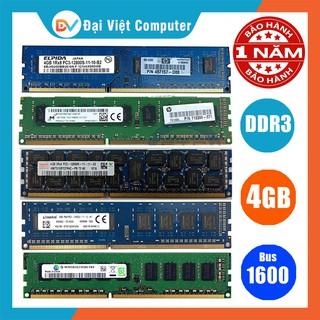Ram máy tính để bàn 4GB DDR3 bus 1600 PC3 12800 (hãng ngẫu nhiên) samsung hynix kingston …