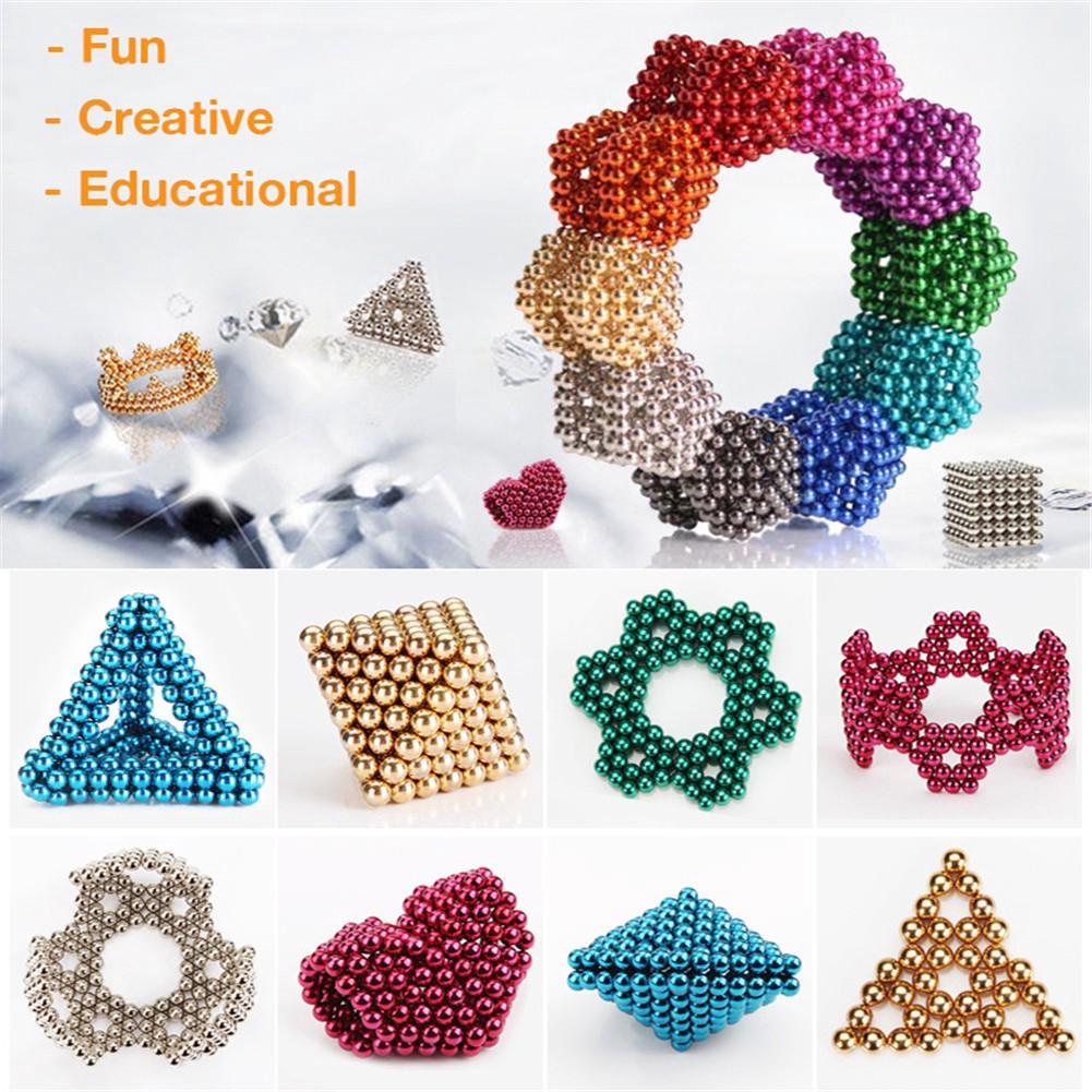 216 Cái 3/5 mm 3D Magic Magnet Balls Balls Sphere Cube Hạt Đồ chơi Xây dựng