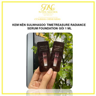 Kem nền thông đỏ Sulwhasoo Timetreasure Radiance Serum Foundation gói 1 ml thumbnail