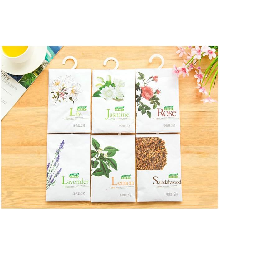 Túi thơm từ hoa khô, thảo dược khử mùi quần áo, đồ dùng