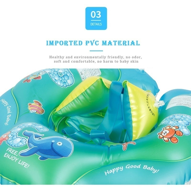 6-30 Months Baby Float Rafts Swimming Ring Kid Inflatable Wear-resistant Prevent Rollover Swim Trainer Pool Water Toy