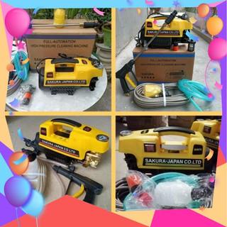 xả kho 💥💥Xả kho máy rửa xe gia đình Sakura 2500W.tặng bình tạo bọt tuyết. công nghệ inverter.attomat chống giật chống