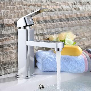 Vòi chậu rửa mặt nóng lạnh ( vòi lavabo) vuông SNL16 tặng đôi dây cấp inox