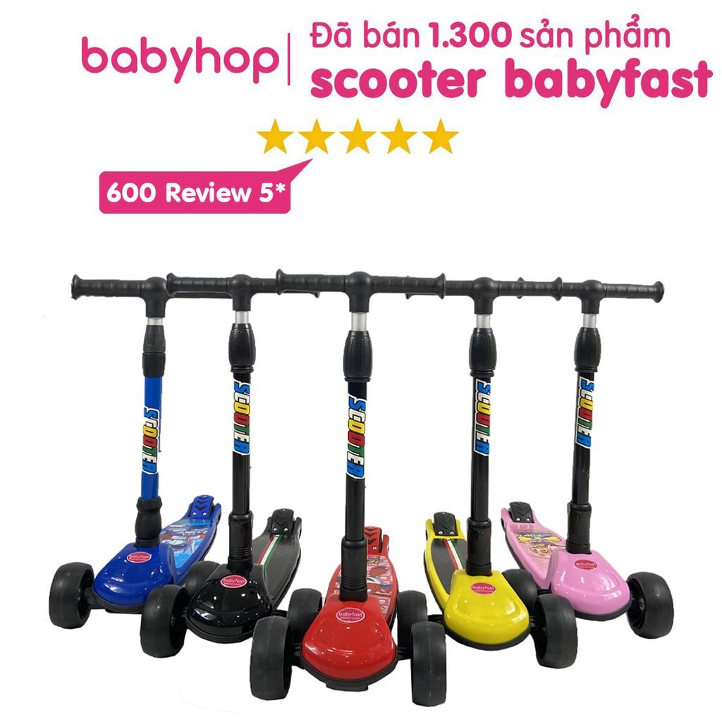 Xe trượt scooter Babyfast của Babyhop  an toàn cho trẻ em chịu lực 80kg phù hợp cho cả bé trai và gái (BH-12tháng)