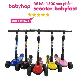 """Xe trượt scooter Babyfast 3 bánh an toàn cho trẻ em của Babyhop chịu lực 80kg phù hợp cho cả bé trai và gái (BH-12tháng) giá chỉ còn <strong class=""""price"""">55.900.000.000đ</strong>"""