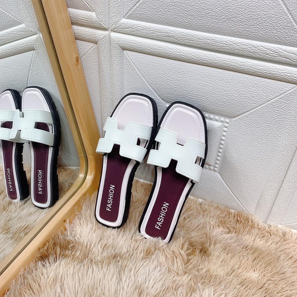 2C01 Dép H rẻ nữ thời trang giầy thể thao đi mưa êm chân thoáng mát