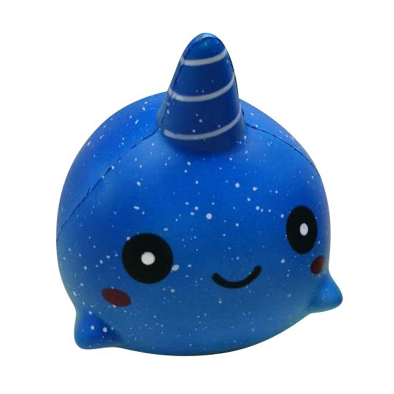 RẺ ĐẸP CHẤT)Slow Rising Squishies Whale Squishy Squeeze Toy Gifts