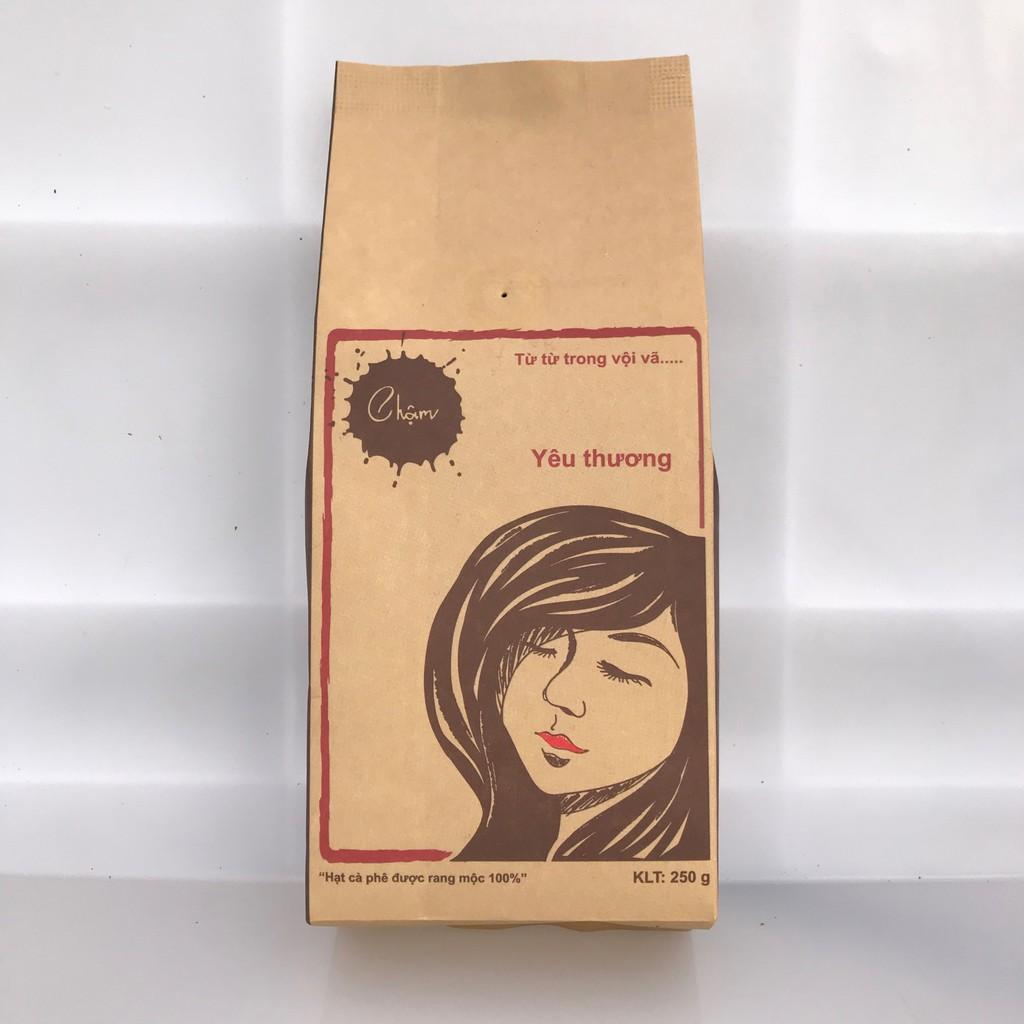FREESHIP 99K TOÀN QUỐC_Combo 1kg cà phê nguyên chất rang mộc Chậm Coffee – Yêu Thương 250g