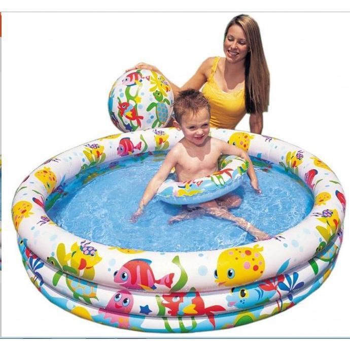 Bể phao bơi intex 3 chi tiết sẵn