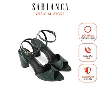 [Mã FAMALLT5 giảm 15% đơn 150k] [Giá hủy diệt] Giày sandal cao gót Sablanca quai mảnh cao 8cm 5050SN0105