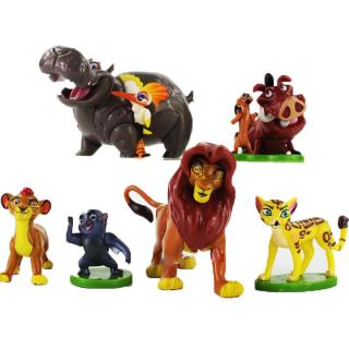 NEW 6pcs Educational Toy The Lion King Guard Figurine Playset Cake Topper Figure Toy Kion Simba Gift
