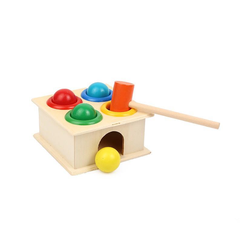 Đồ chơi đánh trống bằng gỗ
